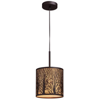 Woodland Sunrise 1 Light 8 inch Aged Bronze Pendant Ceiling Light in Standard
