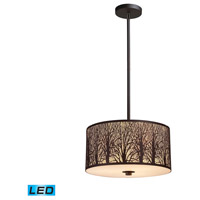 Woodland Sunrise LED 16 inch Aged Bronze Pendant Ceiling Light