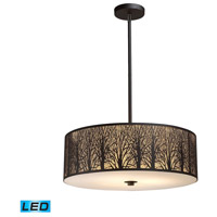 Woodland Sunrise LED 24 inch Aged Bronze Pendant Ceiling Light