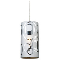 ELK Lighting Chromia 1 Light Pendant in Polished Chrome 31076/1 photo thumbnail