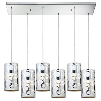 Chromia 6 Light 30 inch Polished Chrome Pendant Ceiling Light