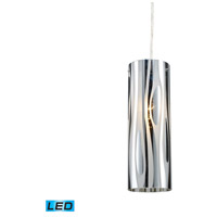 Chromia LED 4 inch Polished Chrome Pendant Ceiling Light in Standard