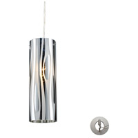 ELK 31078/1-LA Chromia 1 Light 4 inch Polished Chrome Pendant Ceiling Light in Incandescent, Recessed Adapter Kit
