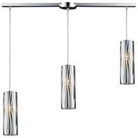 Chromia 3 Light 36 inch Polished Chrome Pendant Ceiling Light