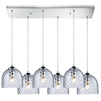 Viva 6 Light 30 inch Satin Nickel Pendant Ceiling Light in Clear Glass