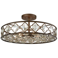 Armand 8 Light 25 inch Weathered Bronze Semi Flush Mount Ceiling Light