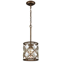 ELK 31094/1 Armand 1 Light 8 inch Weathered Bronze Mini Pendant Ceiling Light