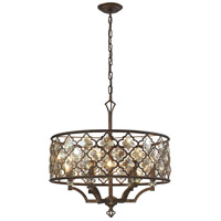ELK 31097/6 Armand 6 Light 24 inch Weathered Bronze Chandelier Ceiling Light