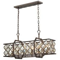 ELK 31098/6 Armand 6 Light 35 inch Weathered Bronze Billiard Light Ceiling Light