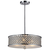 ELK 31105/4 Genevieve 4 Light 21 inch Polished Chrome Pendant Ceiling Light