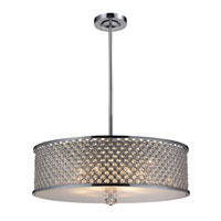 ELK 31106/6 Genevieve 6 Light 29 inch Polished Chrome Pendant Ceiling Light