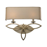 ELK Lighting Estonia 2 Light Wall Sconce in Aged Silver 31121/2