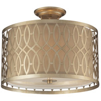 Estonia 3 Light 16 inch Aged Silver Semi-Flush Mount Ceiling Light