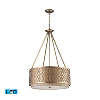 ELK Lighting Estonia 5 Light Pendant in Aged Silver 31126/5-LED