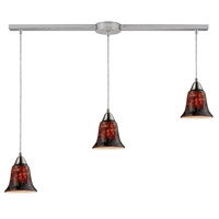 Confections 3 Light 36 inch Satin Nickel Pendant Ceiling Light in Fudge Glass