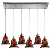 ELK Lighting Confections 6 Light Pendant in Satin Nickel 31130/6RC-FDG