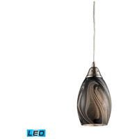 ELK 31133/1ASH-LED Formations LED 5 inch Satin Nickel Pendant Ceiling Light in Ashflow Glass, Standard photo thumbnail