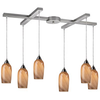 ELK Lighting Sandstone 6 Light Pendant in Satin Nickel 31137/6
