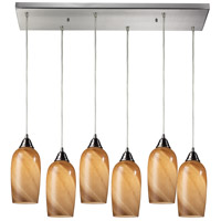 Sandstone 6 Light 30 inch Satin Nickel Pendant Ceiling Light