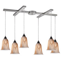 ELK Lighting Granite 6 Light Pendant in Satin Nickel 31138/6
