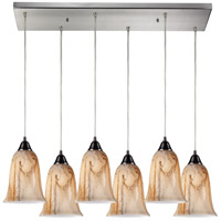 ELK Lighting Granite 6 Light Pendant in Satin Nickel 31138/6RC