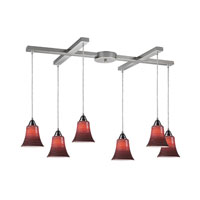 ELK Lighting Vertigo 6 Light Pendant in Satin Nickel 31139/6RD