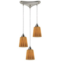 ELK Lighting Angles 3 Light Pendant in Satin Nickel 31141/3AMB photo thumbnail