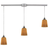 ELK Lighting Angles 3 Light Pendant in Satin Nickel 31141/3L-AMB