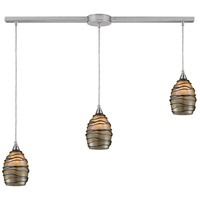 ELK 31142/3L Vines 3 Light 36 inch Satin Nickel Linear Pendant Ceiling Light in Incandescent, Linear with Recessed Adapter