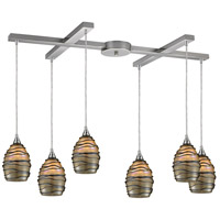 ELK Lighting Vines 6 Light Pendant in Satin Nickel 31142/6
