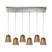 ELK Lighting Cubico 6 Light Pendant in Satin Nickel 31143/6RC
