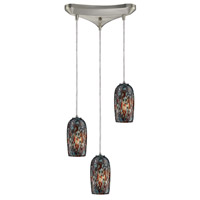 Collage 3 Light 10 inch Satin Nickel Pendant Ceiling Light