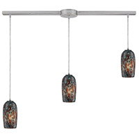 Collage 3 Light 36 inch Satin Nickel Linear Pendant Ceiling Light in Incandescent, Linear with Recessed Adapter