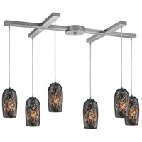 ELK Lighting Collage 6 Light Pendant in Satin Nickel 31147/6
