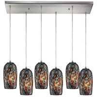Collage 6 Light 30 inch Satin Nickel Pendant Ceiling Light
