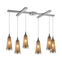 ELK Lighting Encapsulate 6 Light Pendant in Satin Nickel 31148/6