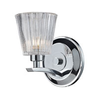 ELK 31162/1 Calais 1 Light 6 inch Polished Chrome Bath Bar Wall Light
