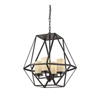 Delaney 4 Light 22 inch Oil Rubbed Bronze Pendant Ceiling Light