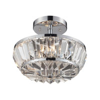 Vienna 4 Light 12 inch Polished Chrome Semi-Flush Mount Ceiling Light