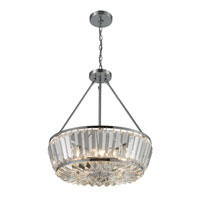 ELK 31194/6 Vienna 6 Light 20 inch Polished Chrome Pendant Ceiling Light