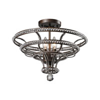 ELK Lighting Chaumont 4 Light Semi-Flush Mount in Mocha 31202/4
