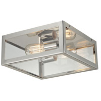 ELK 31211/2 Parameters-Nickel 2 Light 12 inch Polished Chrome Semi-Flush Mount Ceiling Light