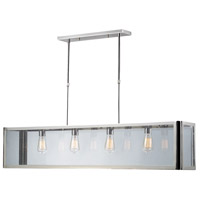 Parameters-Nickel 4 Light 47 inch Polished Chrome Island Light Ceiling Light