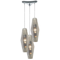 ELK 31216/3 Pelham 3 Light 13 inch Polished Chrome Pendant Ceiling Light in Triangular Canopy