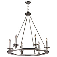 ELK Lighting Port Solerno 6 Light Chandelier in Satin Nickel 31225/6