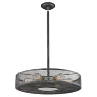 Slatington 6 Light 22 inch Brushed Nickel with Silvered Graphite Pendant Ceiling Light
