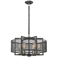Slatington 6 Light 22 inch Brushed Nickel with Silvered Graphite Chandelier Ceiling Light