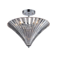 Crystal 3 Light 16 inch Polished Chrome Flush Mount Ceiling Light in Clear Crystal