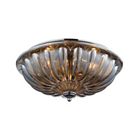 ELK 31252/3 Crystal 3 Light 16 inch Polished Chrome Flush Mount Ceiling Light