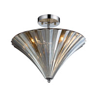 ELK Lighting Crystal 3 Light Flush Mount in Polished Chrome 31253/3 photo thumbnail
